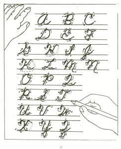 HandwritingCursiveCapDir