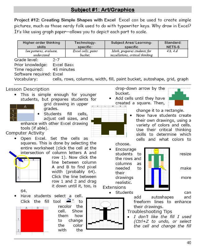 Excel shapes