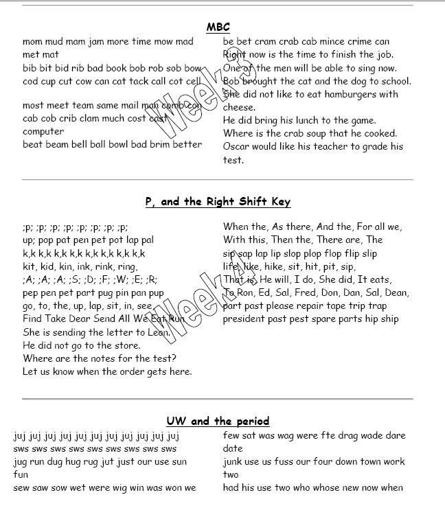 keyboard homework