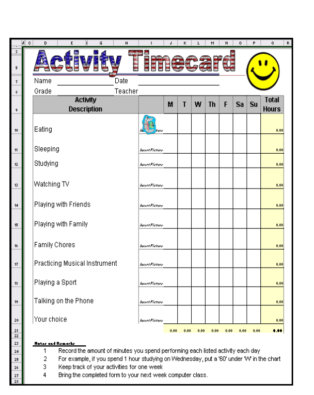 70 how to keep a timecard in excel ask a tech teacher