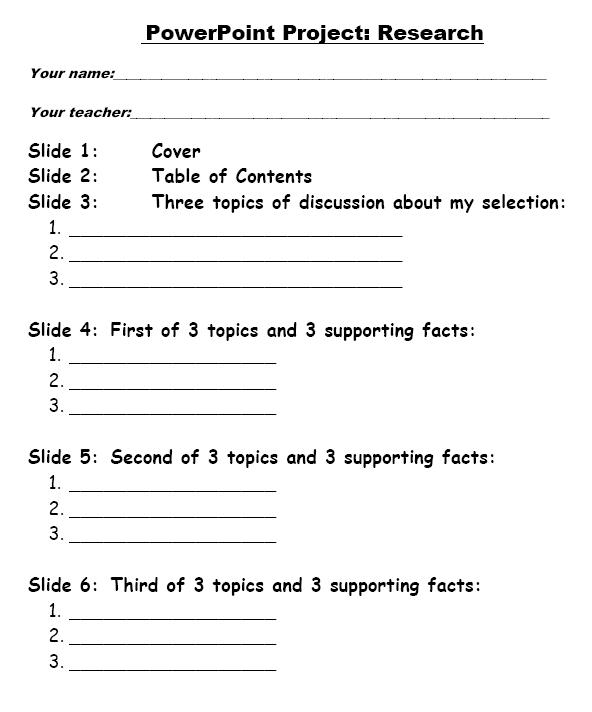 elementary school presentations