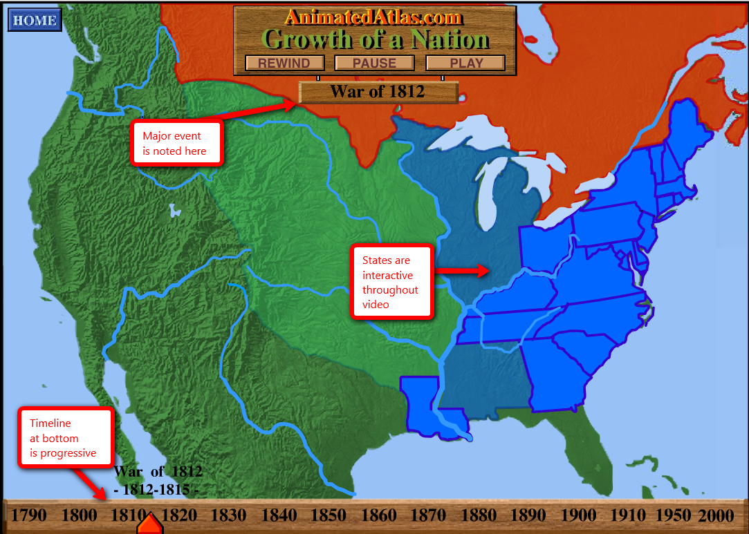 Pin Westward Expansion Map 650jpg on Pinterest