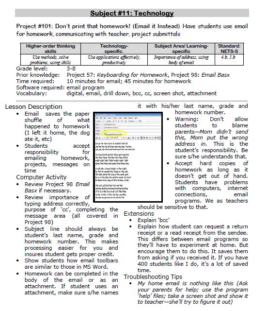 101: Don't Print Homework–Email it! | Ask a Tech Teacher