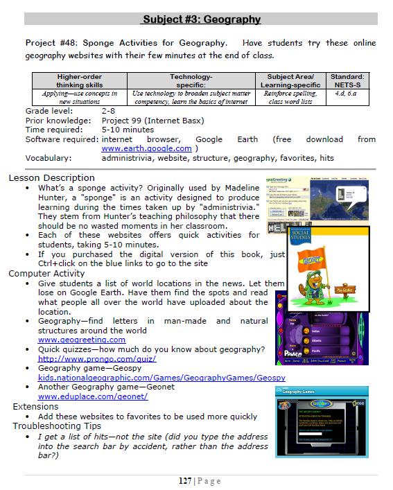 48: Sponge Activities for Geography   Ask a Tech Teacher