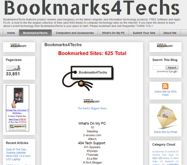 bookmarks for techs