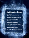 Netiquette Rules poster