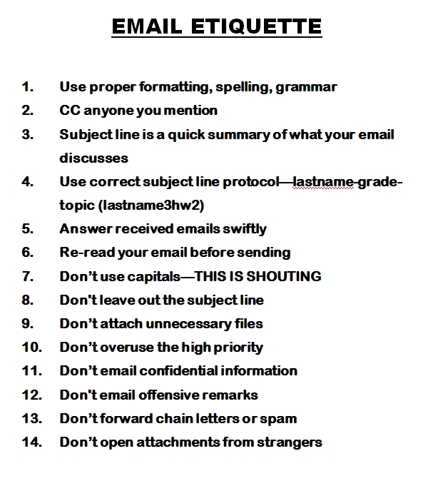 email etiquette : Ask a Tech Teacher
