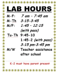 lab hours