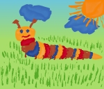 4315825 caterpillar on meadow